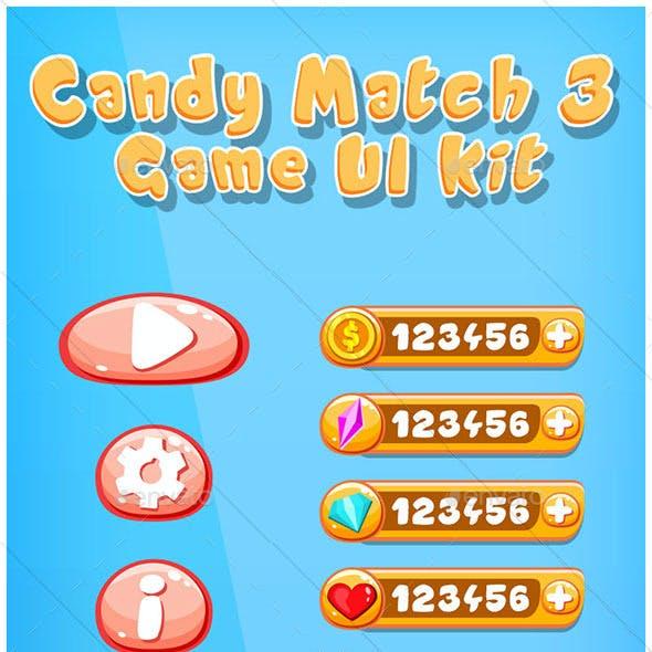 Candy Match 3 Game UI Kit