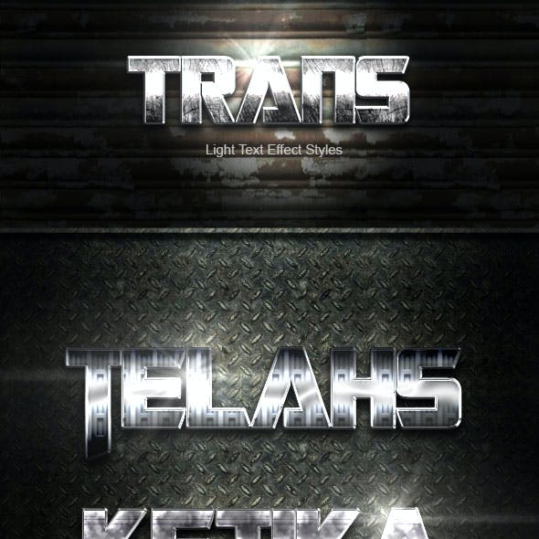 Trans Silver Text Effect V05