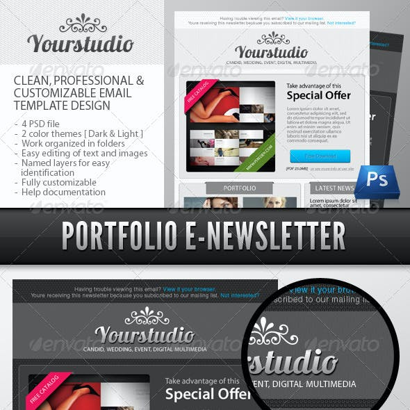 Professional Photographer Portfolio E-Newsletter