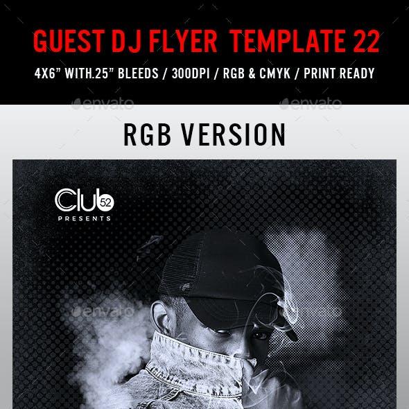 Guest DJ Flyer Template 22