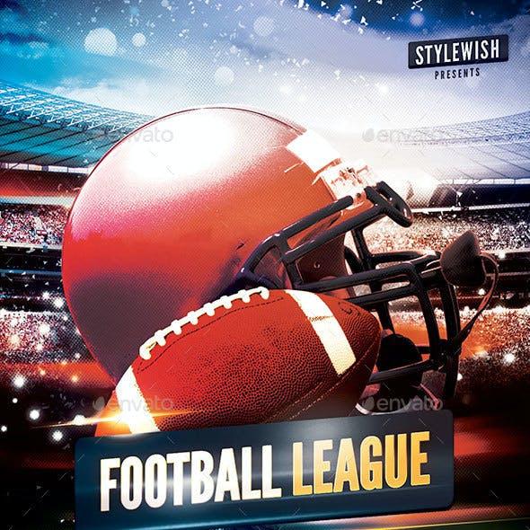 American Football League Flyer