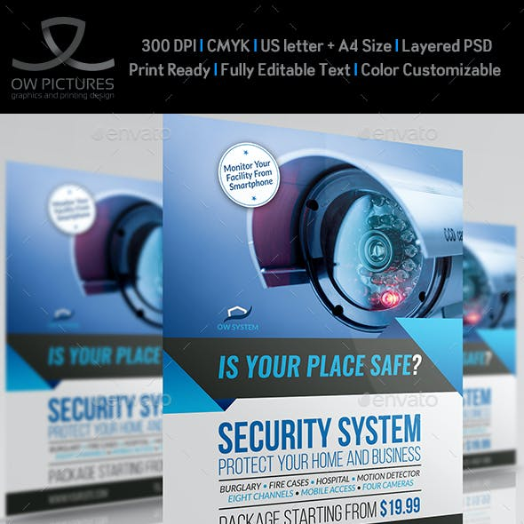 Security System Flyer Template Vol.3