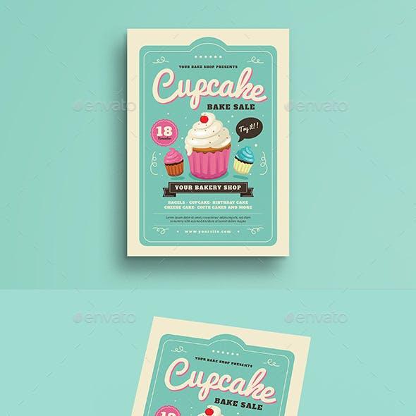Cupcake Bake Sale Flyer