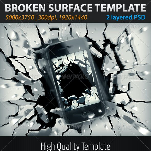 Broken Surface Template