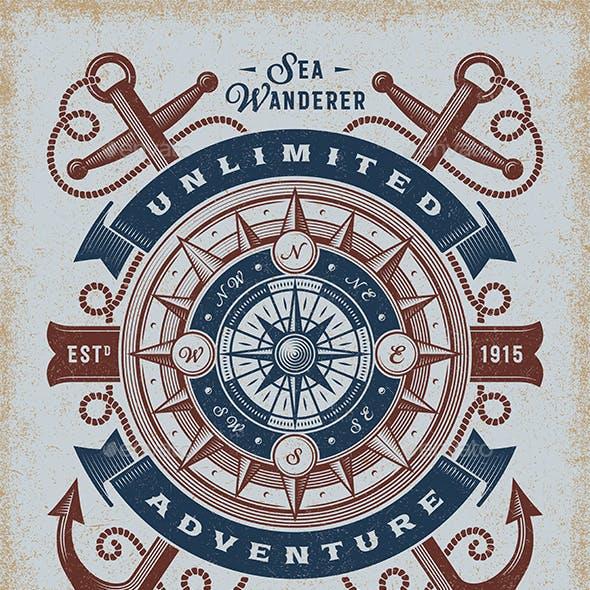 Vintage Unlimited Adventure Typography