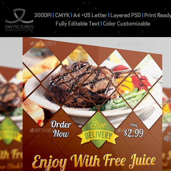 Steak Restaurant Flyer