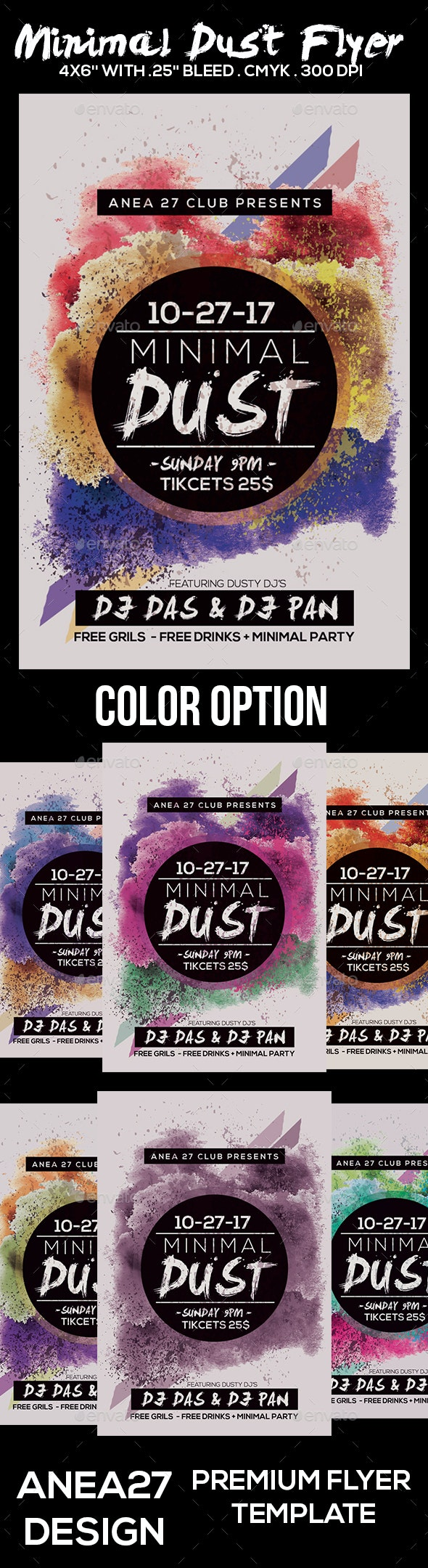 Minimal Dust Flyer - Clubs & Parties Events