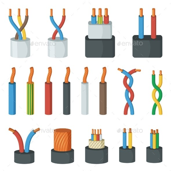Electrical Cable Wires Different Amperage