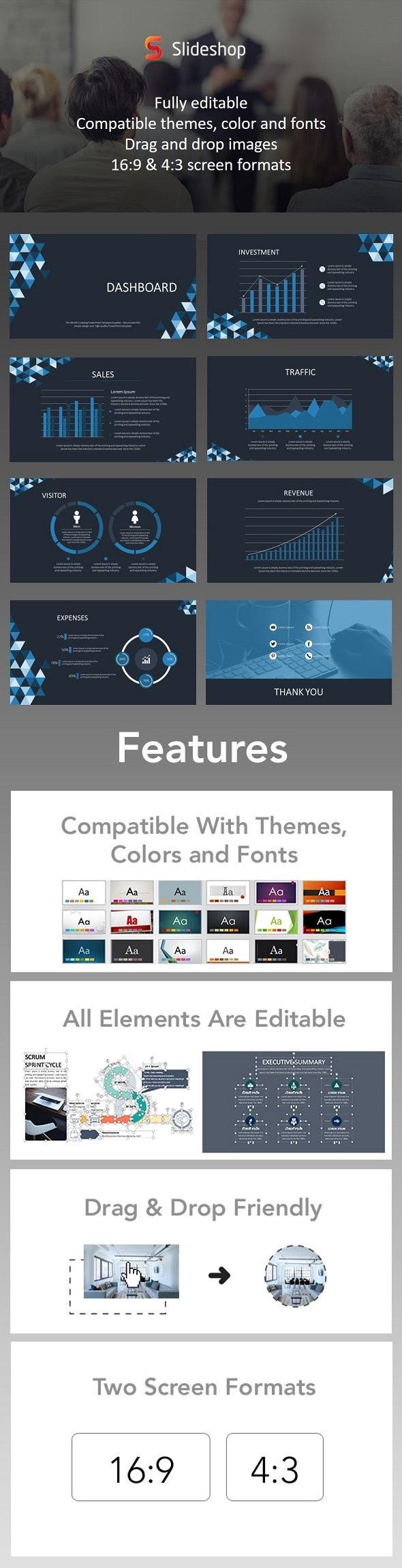 Dashboard Animation Blue - PowerPoint Templates Presentation Templates