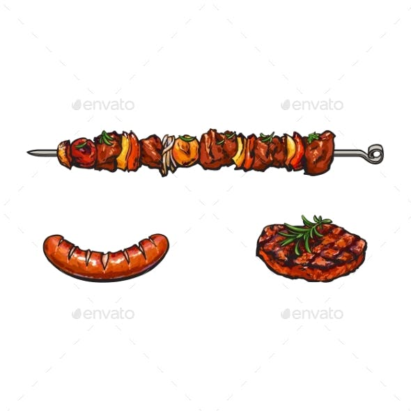 Grilled  Barbecued Meat