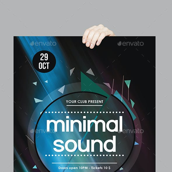 Minimal Sound Party Flyer Template