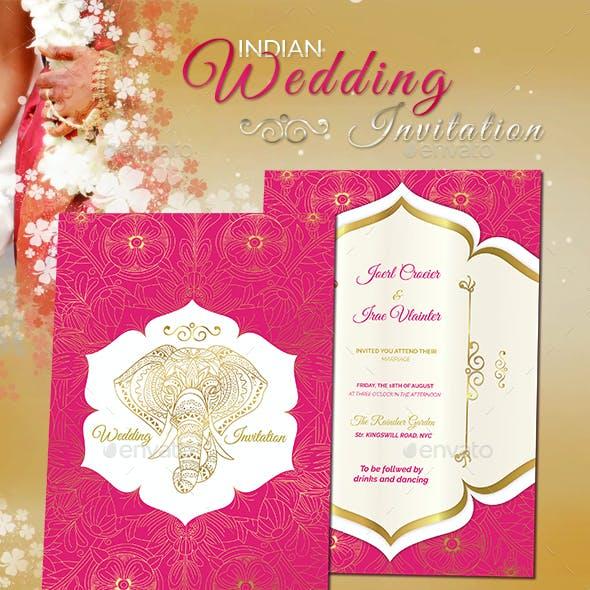 Pure Indian Style Wedding Invitation