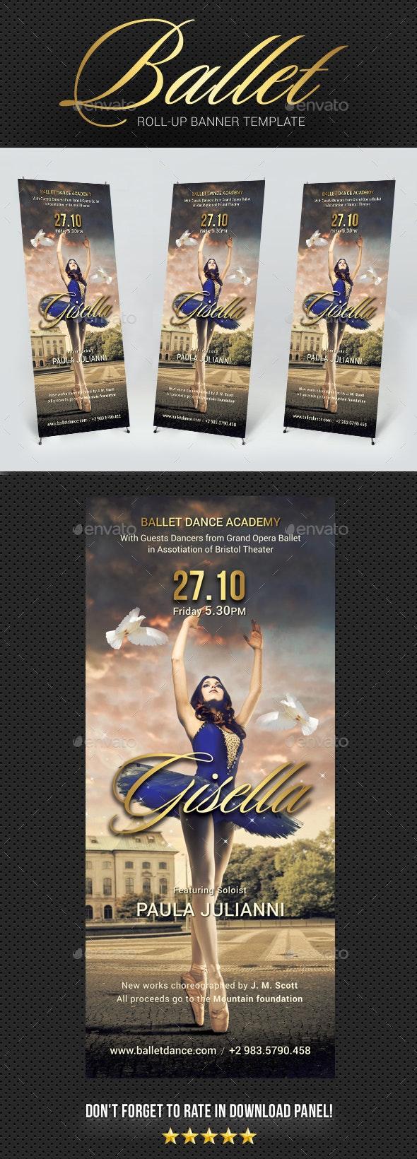 Ballet Banner Template - Signage Print Templates