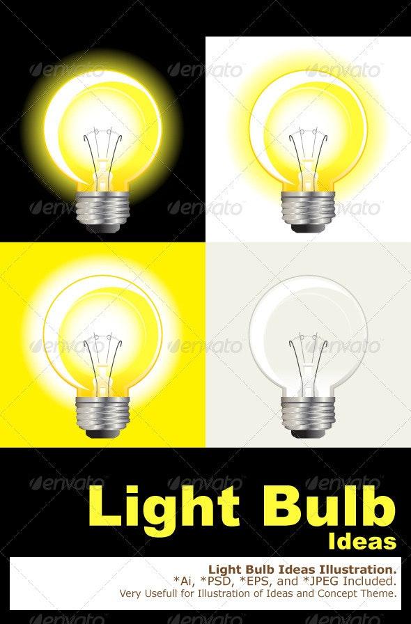 Ideas Light Bulb - Conceptual Vectors