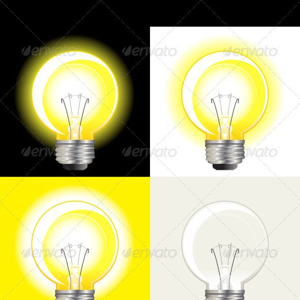 Glass and Lightbulb Graphics, Designs & Templates
