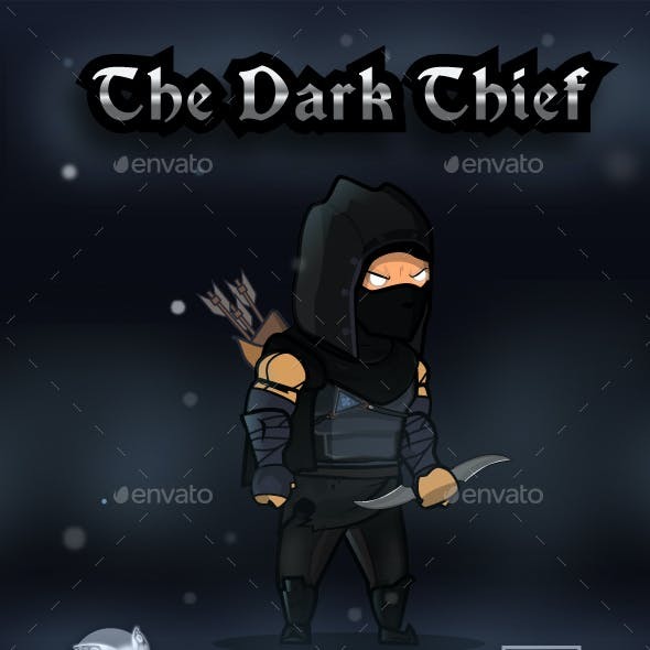 The Dark Thief Game Character Sprites