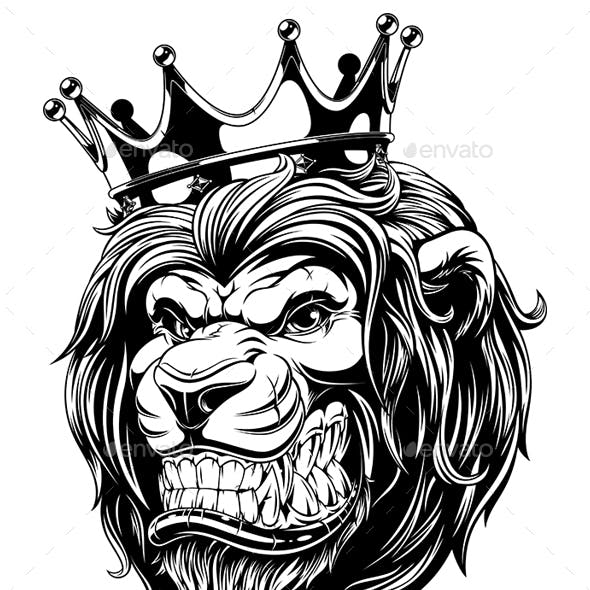 Head of a Lion in the Crown