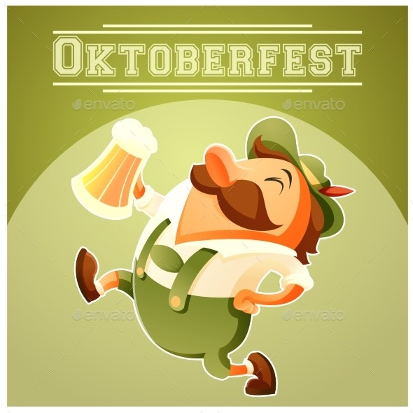 Oktoberfest Beer Festival Banner - Food Objects