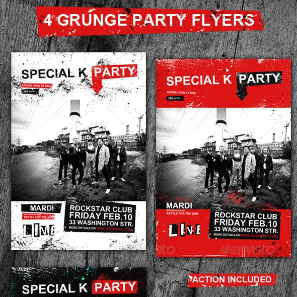 Grunge Rock Flyers/Posters