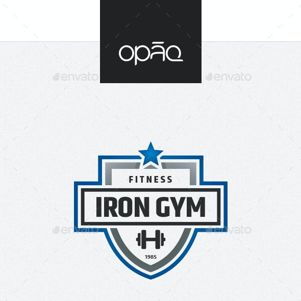 Iron Gym Fitness Logo