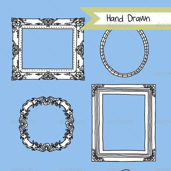 Hand Drawn Illustrated Frames