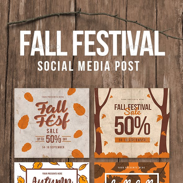 Fall festival sale instagram post by lilynthesweetpea