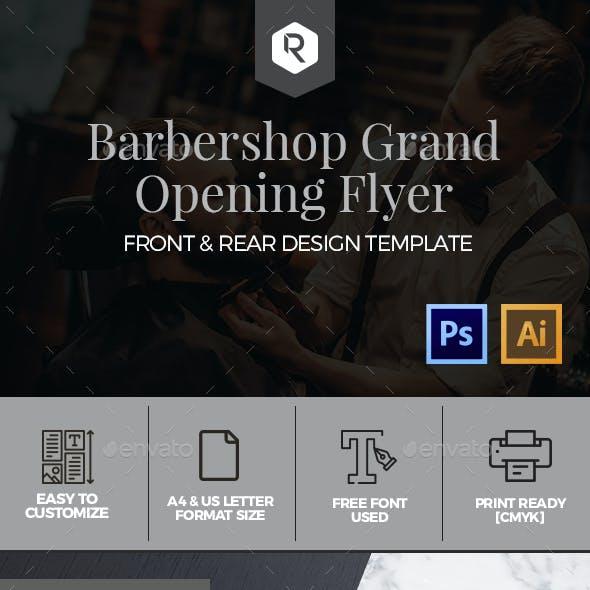Barbershop Grand Opening Flyer Template