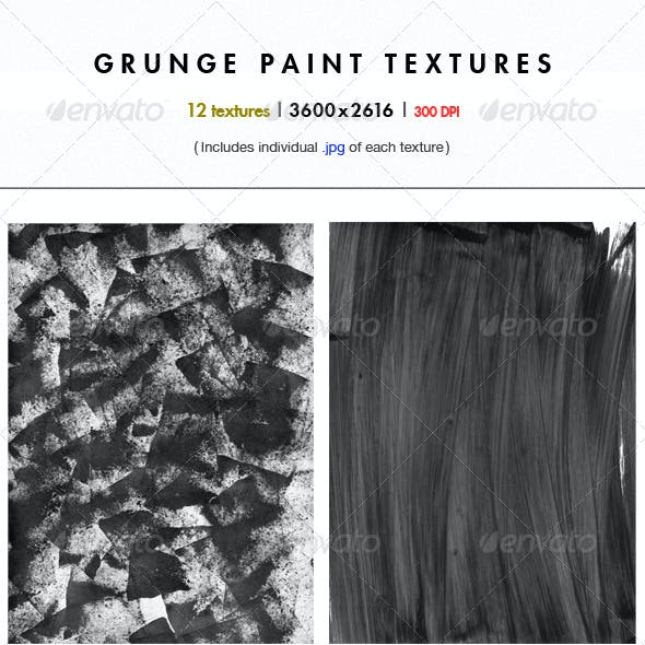 12 High Resolution Grunge Paint Textures
