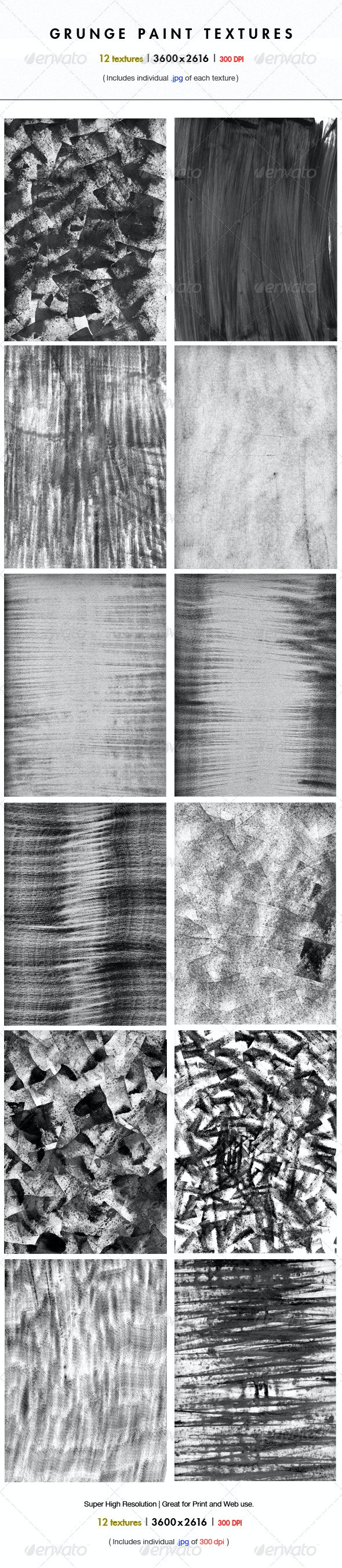 12 High Resolution Grunge Paint Textures - Industrial / Grunge Textures