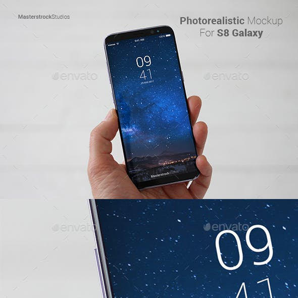 S8 Galaxy Smartphone Photo-realistic Mockup 5