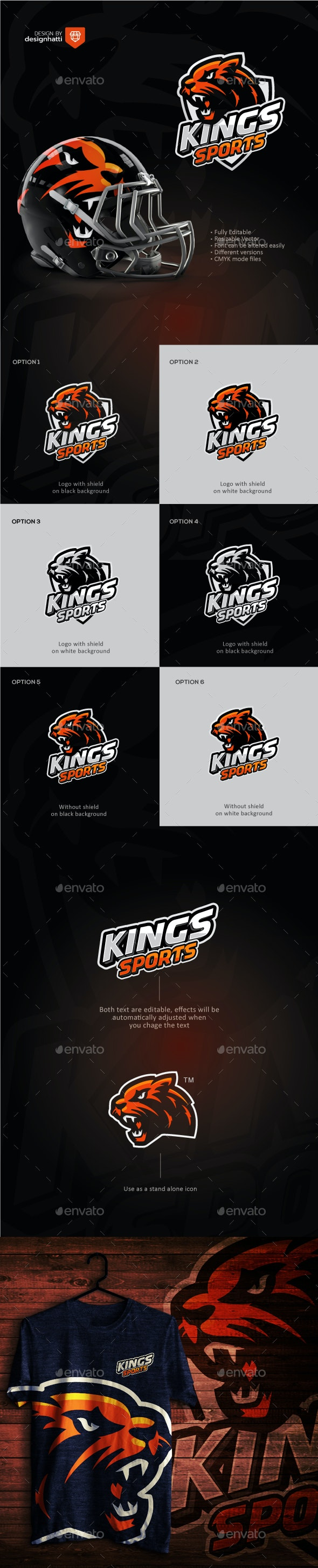 King Lion Sports Logo - Sports Logo Templates