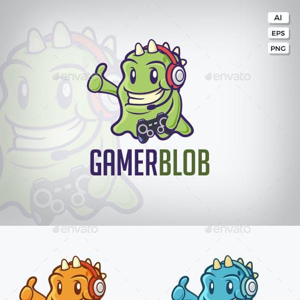 Gamer Monster Vector Logo Template