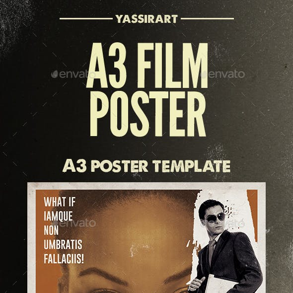 Film Poster Template A3