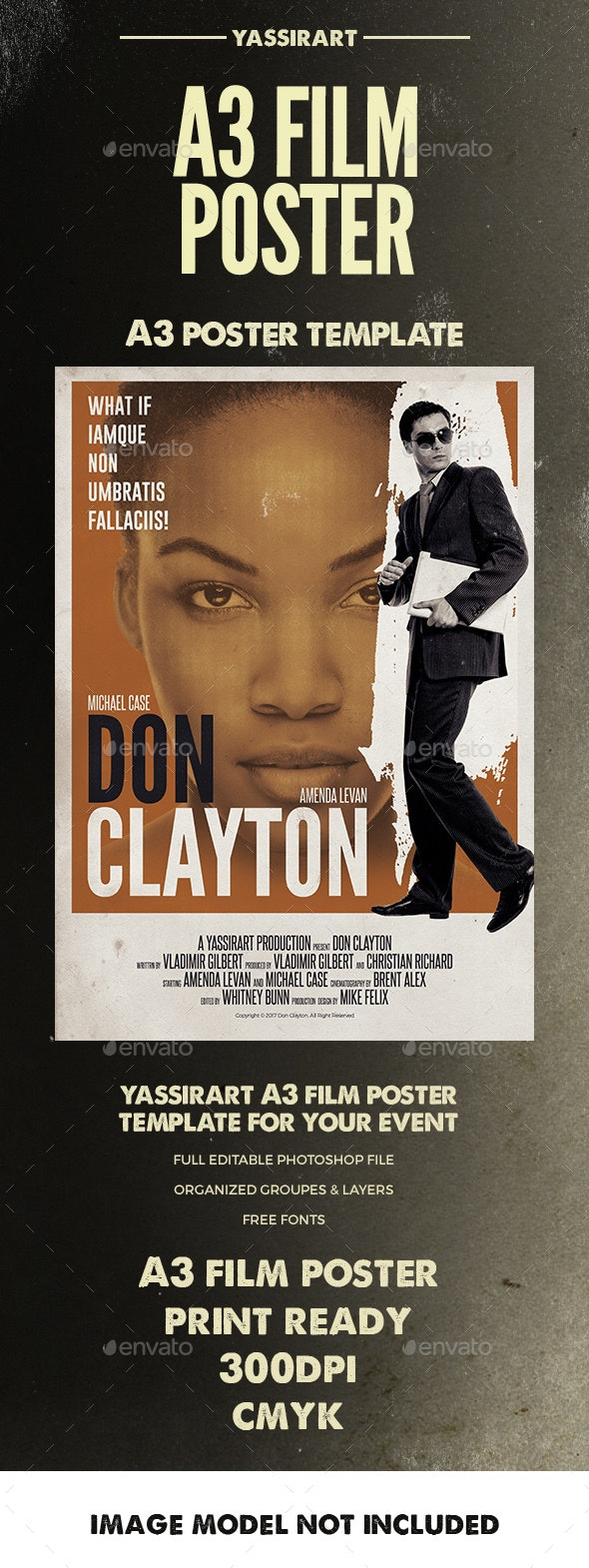 Film Poster Template A3 - Miscellaneous Events