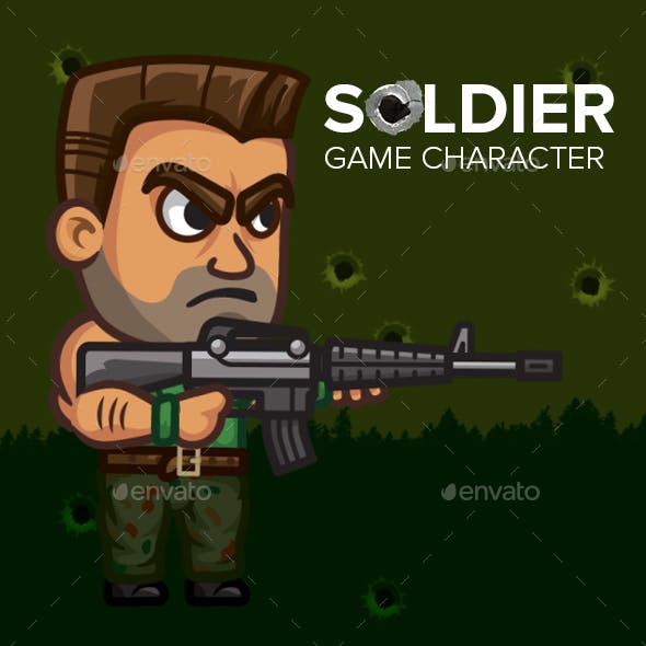 Game Character 2D Soldier Sprite