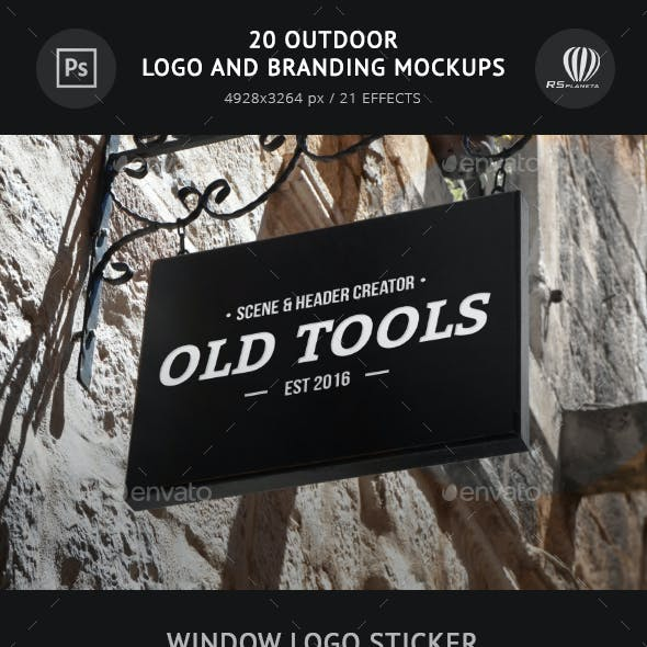 20 Outdoor Logo and Branding Mockups