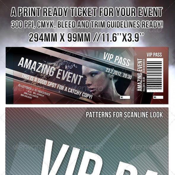 Print Ready Event Ticket