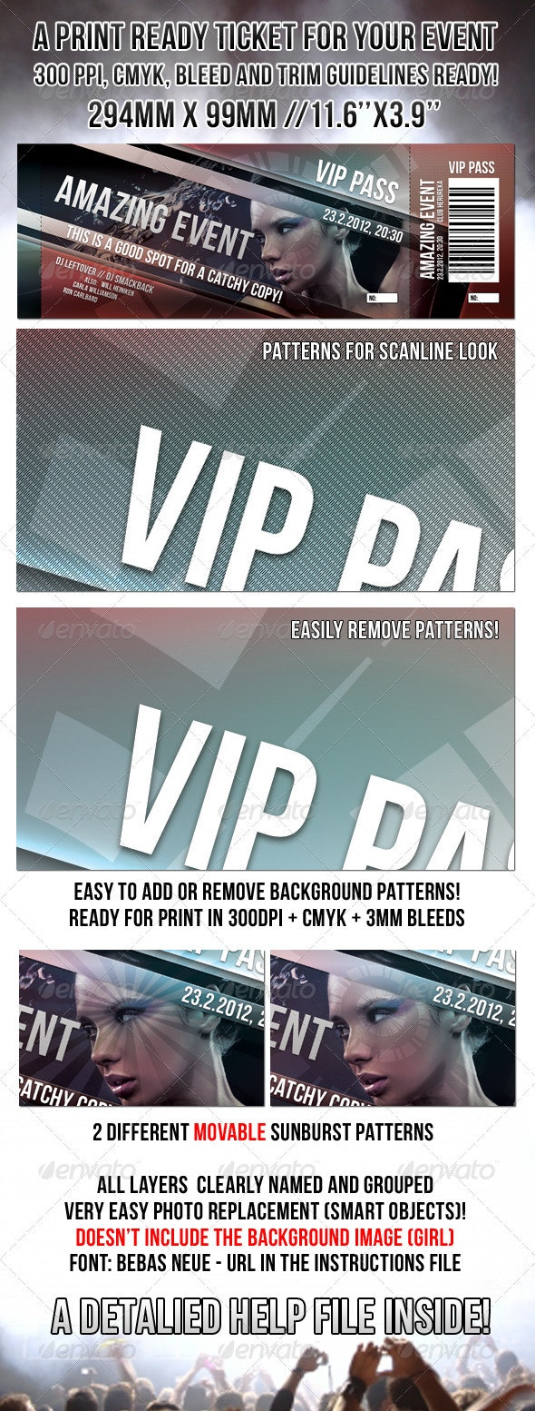 Print Ready Event Ticket - Events Flyers