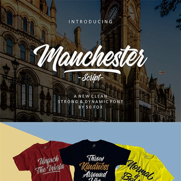 Manchester Script - 50% Off This Month