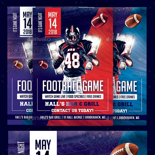 Football Day Flyer Template