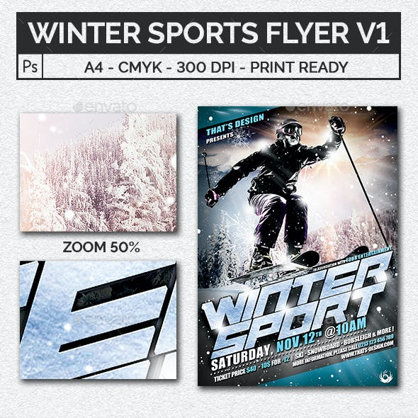 Winter Sports Flyer Template V1