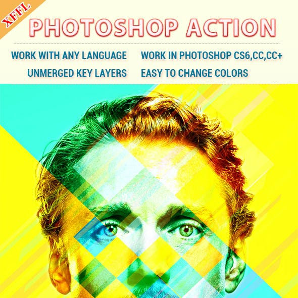 Colorful Rectangles Effect Photoshop Action