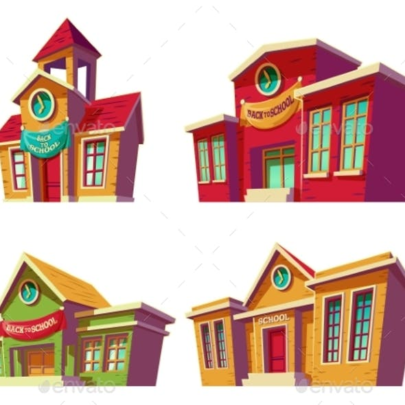 Set of Vector Illustrations Cartoon of Various