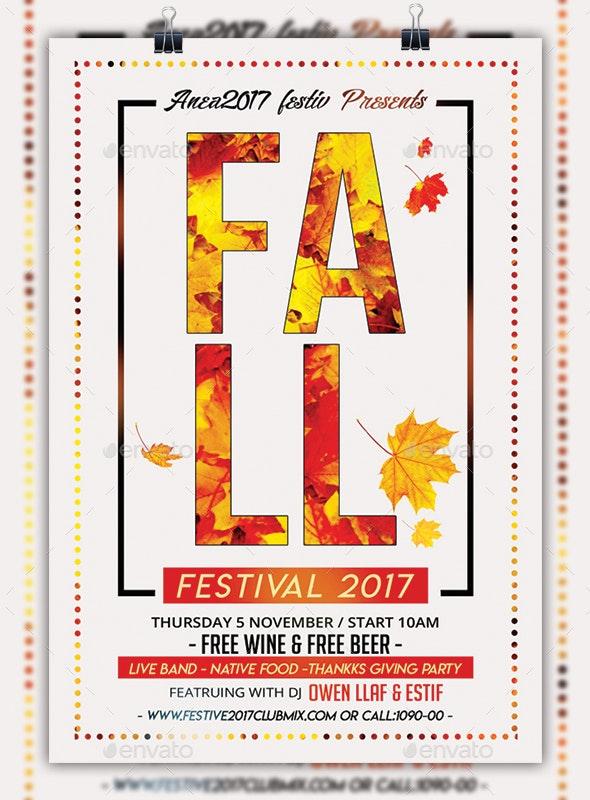 Fall Festival Minimal Flyer - Events Flyers