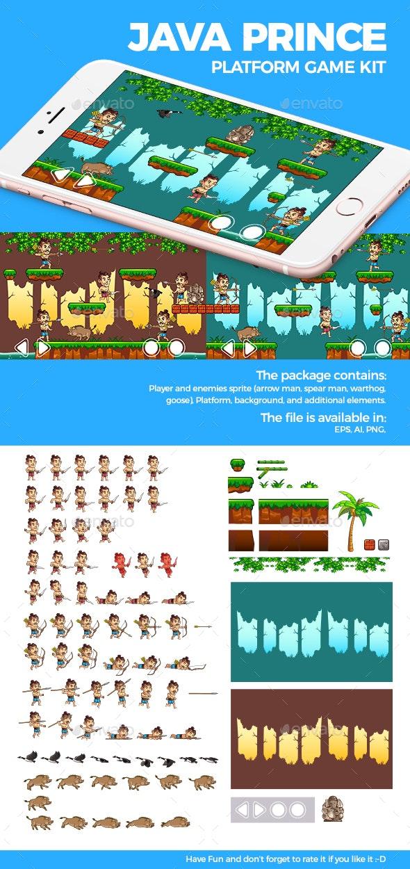 Java Prince Platform Game Kit - Game Kits Game Assets