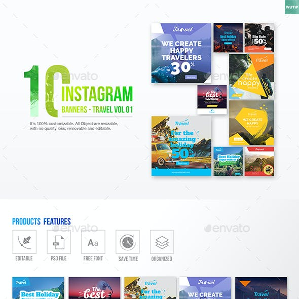 10 Instagram Post Banner-Travel 01