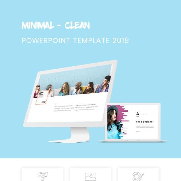 Minimal - Clean Powerpoint Template 2018