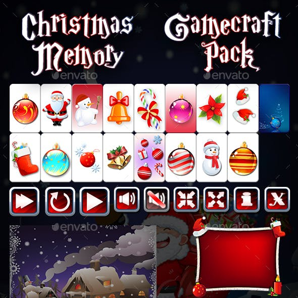 Christmas Memory - Game Assets