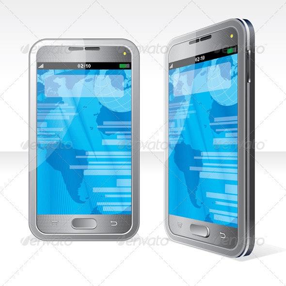 Silver Smartphone - Communications Technology