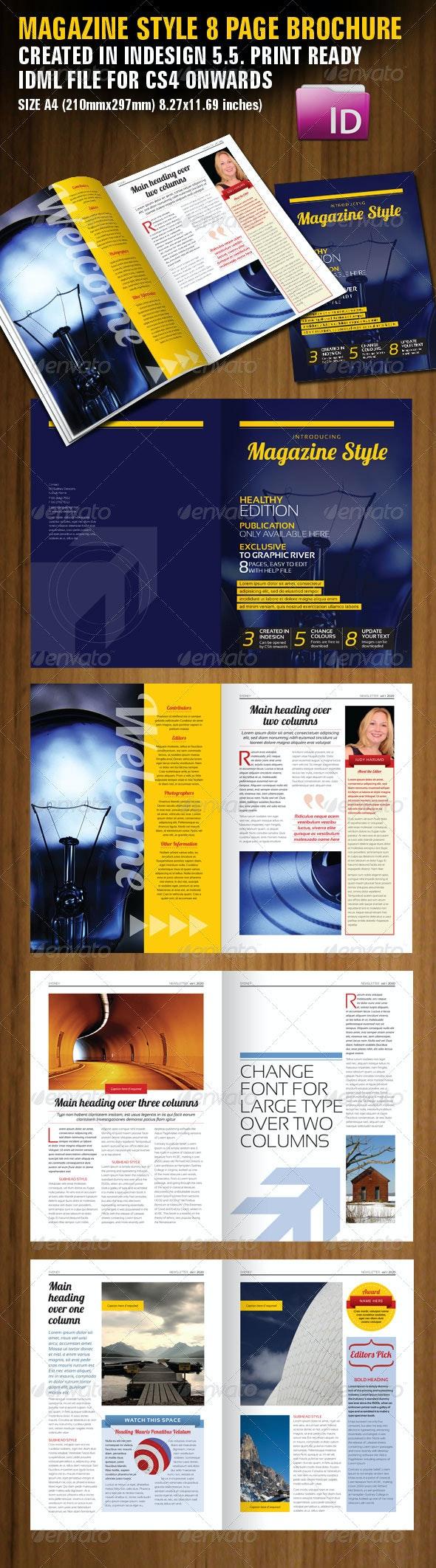 Magazine Style Brochure - Corporate Brochures